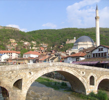 The Stone Bridge in the centre of Prizren
