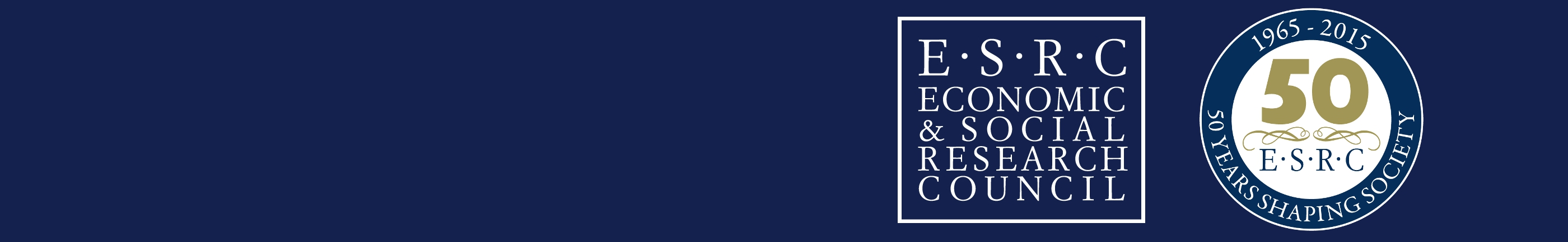 esrc logos on dark blue background