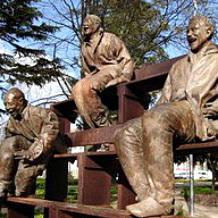 """Fragment of Juan Muñoz' sculpture """"Thirteen Laughing at Each Other"""""""